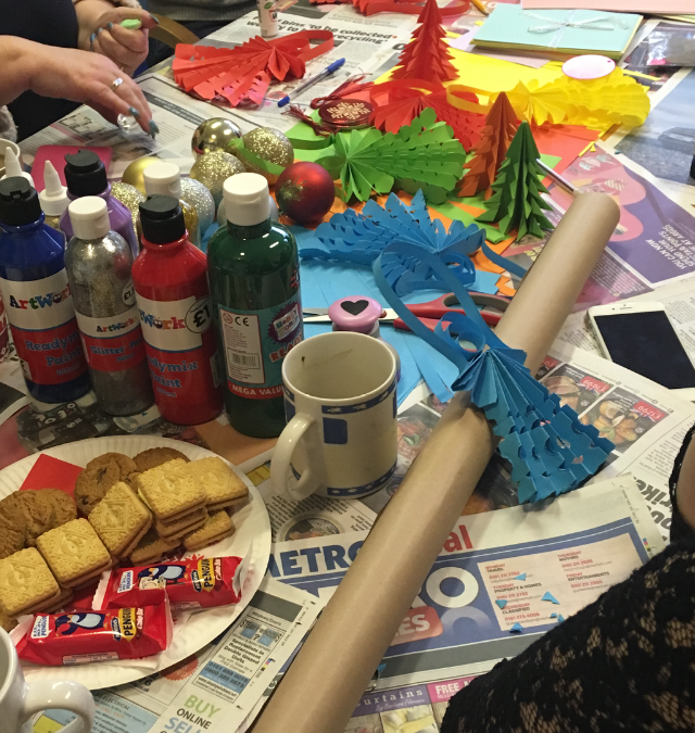 Bury clients craft Christmas cheer