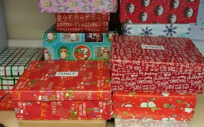 Donations of Gift boxes to Rose Court